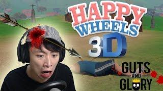 3D HAPPY WHEELS!?看爸爸行神蹟!GUTS AND GLORY #1
