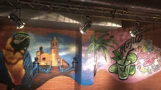 Graffiti en Parrots Pub de Sitges