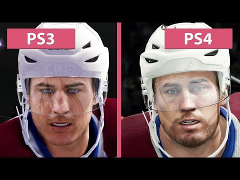 NHL 16 PS4 vs. PS3 NHL Legacy Edition Graphics Comparison [FullHD][60fps]