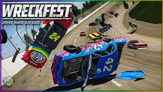 THE WORST WRECKS YET!   Wreckfest   NASCAR Legends Mod