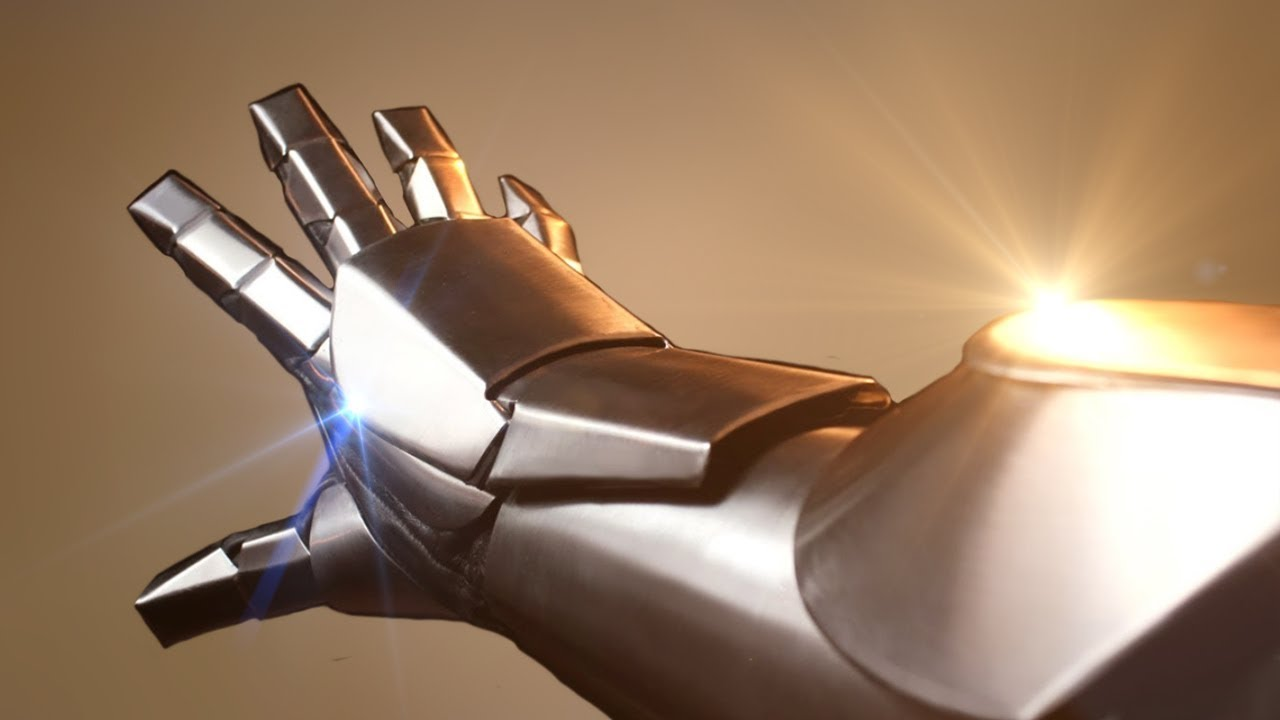 Fantasy Author Builds His Own Iron Man Gauntlet Out Of 22-Gauge Steel