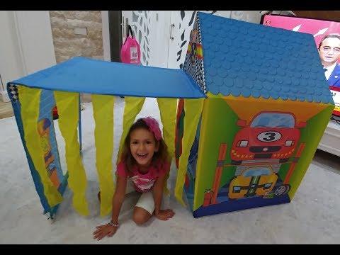 Mahalleye araba tamir servisi geldi, Elife yeni Garaj Çadır , eğlenceli çocuk videosu