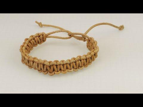 Macrame Armband | Ethno Look | Kreuzknoten Armband aus echtem Leder