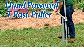 Hand Powered T Post Puller