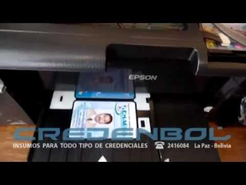 Bandeja Para Imprimir Credenciales PVC en EPSON