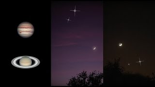 Check out how to spot Jupiter Saturn and the moon as it