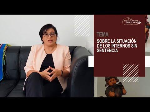 SOBRE LA SITUACIÓN DE LOS INTERNOS SIN SENTENCIA - Luces Cámara Derecho 171