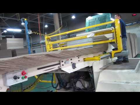 Used Automatic  7 Ply Corrugated Board Plant