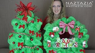 preview picture of video 'DIY Learn How to Make Deco Mesh Poly Christmas Holiday Tree (Tomato Plant Garden Cage)'