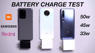 Xiaomi Redmi K30 Pro vs Xiaomi Mi 10 Pro 5G vs Samsung Galaxy S20 Ultra - CHARGING SPEED TEST
