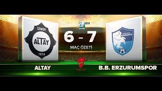 Altay 6-7 B.B Erzurumspor   Maç Özeti HD   A Spor   20.09.2017
