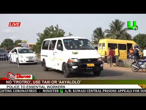 No 'trotro', use taxi or 'Aayalolo' - Police to essential workers