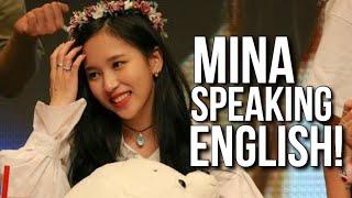 Mina speaking English