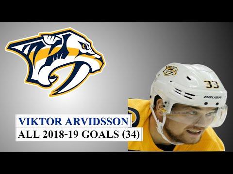 Viktor Arvidsson (#33) All 34 Goals of the 2018-19 NHL Season