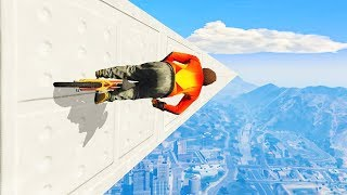 ATTEMPTING THE LONGEST 90° STUNT ! ( GTA 5 Funny Moments )