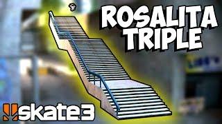 INSANE Rosalita Triple Stair - Toasty Challenges: Skate 3