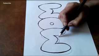 How to Draw Bubble Letters Graffiti Letters for Children