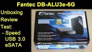 Fantec DB-ALU3e-6G eSATA USB 3.0 Gehäuse - Unboxing, Review, 3TB 8TB, SSD Transfer Test, Firmware