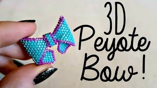 DIY 3D Beaded Bow How To! // Bead Weaving // ¦ The Corner Of Craft