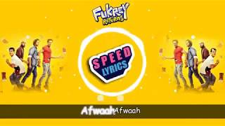 Fukrey Returns - Mehbooba | Lyrics video - YouTube