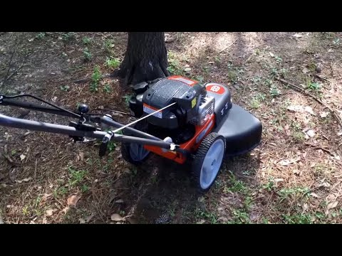 Husqvarna walk behind string trimmer,review