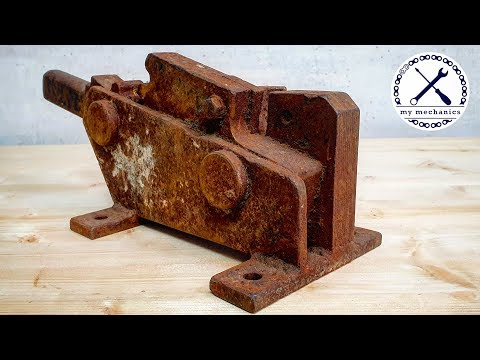 This guy does the most detailed satisfying restorations on YouTube - Lost Rebar Cutter (Metal Shear) - Restoration