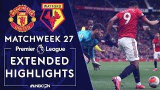 Manchester United v. Watford | PREMIER LEAGUE HIGHLIGHTS | 2/23/2020 | NBC Sports