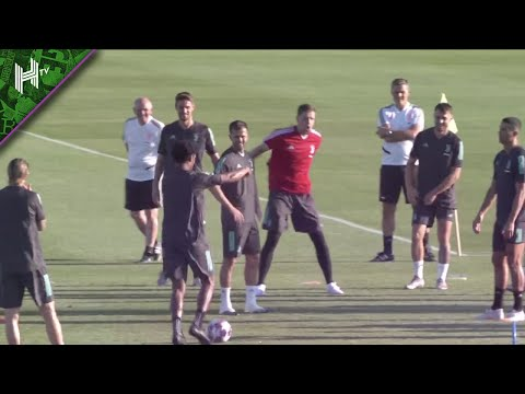 Cristiano Ronaldo teased by Juventus team-mates in training | Champions League