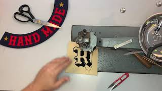 Making A Chenille Letter Patch On A Vintage Chain Stitch Embroidery Machine