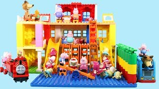 Lego Duplo House Construction Sets - Peppa Pig House With Water Slide Creations Toys For Kids #8