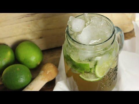 Ipanema Cocktail/ alkoholfreier Caipirinha/ mit Ginger Ale und Limetten (vegan)