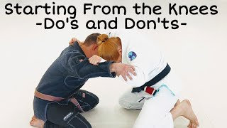 Starting From the Knees - Do's and Don'ts - Leviathan BJJ Academy Cleveland, TN