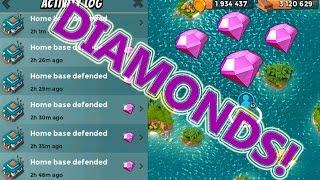 DIAMOND FARMING   Boom Beach   STRONG DEFENSE BASE LAYOUT