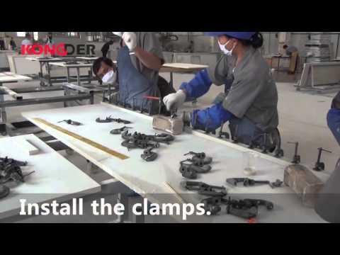 Video How to Seam bond quartz stone for your Kitchen Countertop?Seamless bonding laminate kitchen top glue
