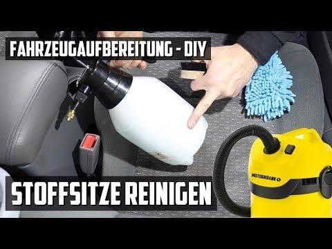 Autositze reinigen mit Nasssauger vs. ohne - DIY FAHRZEUGAUFBEREITUNG