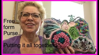 Freeform Crochet Purse: Putting It All Together