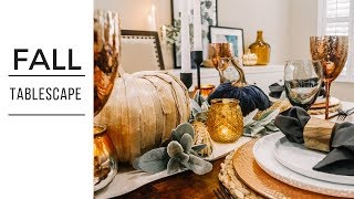 THANKSGIVING TABLE SETTING | Moody & Modern | Elegant Thanksgiving Table Decor | Fall Table Decor