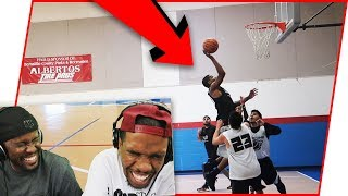 Reacting To Juice's FIRST Basketball Game Since High School!!