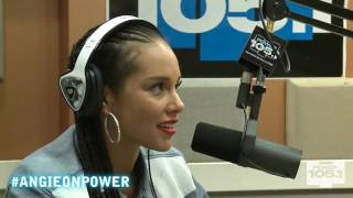 Alicia Keys Drops by The Angie Martinez Show 9-16-2014