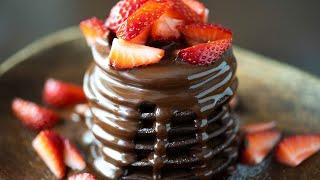 ASMR米粉と豆腐のチョコレートパンケーキ グルテンフリー