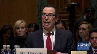 Treasury Secretary Nominee Steve Mnuchin Opening Statement (C-SPAN)