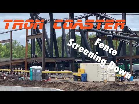 TRON Coaster Ride Update at Disney's Magic Kingdom!