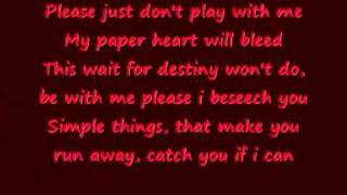 My Paper Heart - The All American Rejects Lyrics
