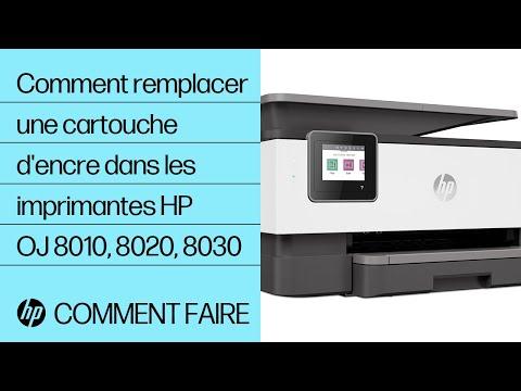 Comment remplacer une cartouche d'encre dans les imprimantes de la gamme HP OfficeJet 8010, OfficeJet Pro 8020 ou 8030