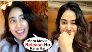 Jhanvi Kapoor Shares A Video Looking EXCITED For Her Gunjan Saxena Trailer Launch