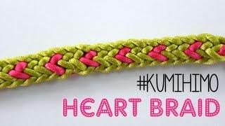 KUMIHIMO: HEART BRAID - TRENZADO CON CORAZÓN