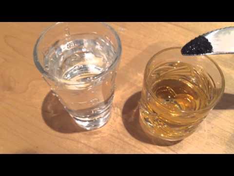 Как определить опасный ли алкоголь? (Jack Daniel's) Реакция марганцовки на метиловый спирт.