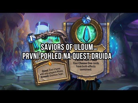 Saviors of Uldum   První pohled na Quest Druida
