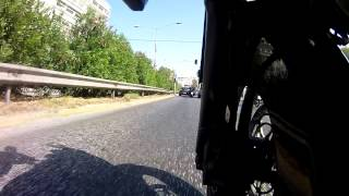 preview picture of video 'Cruising with my bike V-Strom DL1000 in Athens Greece'