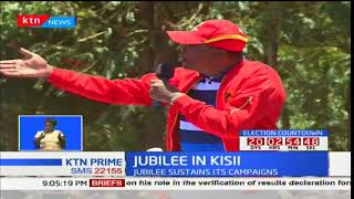 President Uhuru leads Jubilee as they campaign in Kisii and Nyamira Counties